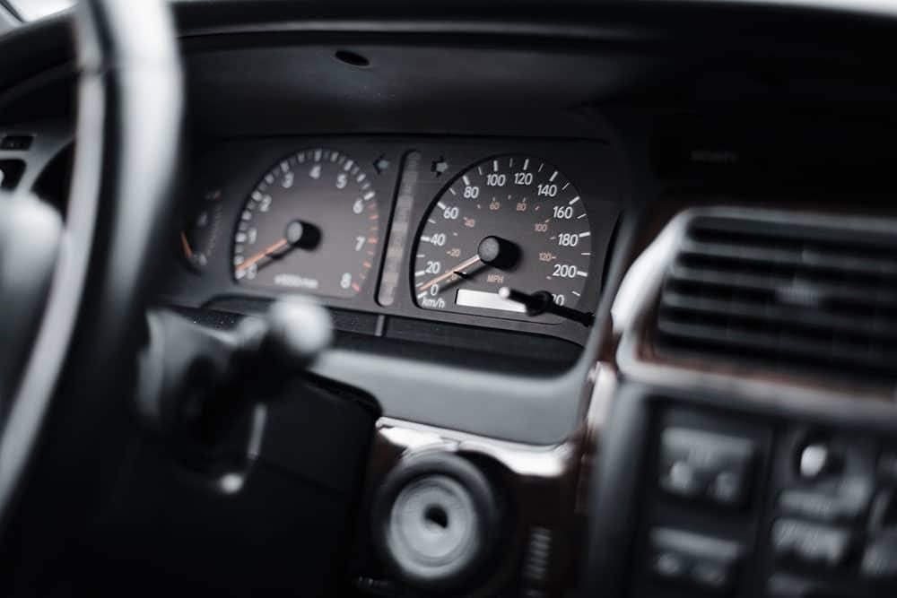 old car interior and dash